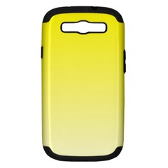 Cadmium Yellow To Cream Gradient Samsung Galaxy S Iii Hardshell Case (pc+silicone) by BestCustomGiftsForYou