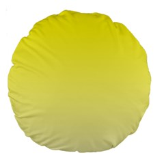 Cadmium Yellow To Cream Gradient 18  Premium Round Cushion