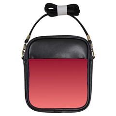 Burgundy To Pastel Red Gradient Girl s Sling Bag by BestCustomGiftsForYou
