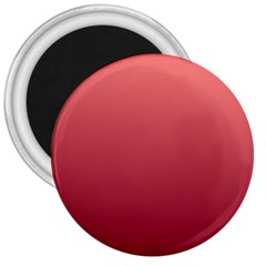 Pastel Red To Burgundy Gradient 3  Button Magnet by BestCustomGiftsForYou