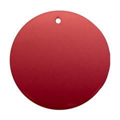 Pastel Red To Burgundy Gradient Round Ornament (two Sides) by BestCustomGiftsForYou