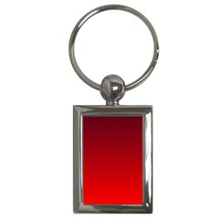Dark Scarlet To Red Gradient Key Chain (rectangle) by BestCustomGiftsForYou