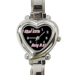 Petchatgirlsrule Heart Italian Charm Watch
