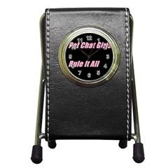 Petchatgirlsrule2 Stationery Holder Clock