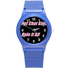 Petchatgirlsrule2 Plastic Sport Watch (small)