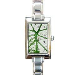 Leaf Patterns Rectangular Italian Charm Watch by natureinmalaysia