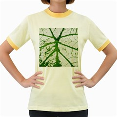 Leaf Patterns Womens  Ringer T Shirt (colored) by natureinmalaysia