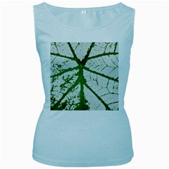 Leaf Patterns Womens  Tank Top (baby Blue)