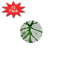 Leaf Patterns 1  Mini Button (10 Pack) by natureinmalaysia
