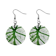 Leaf Patterns Mini Button Earrings by natureinmalaysia