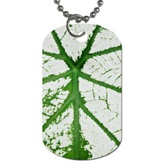 Leaf Patterns Dog Tag (two Sided)  by natureinmalaysia