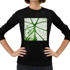 Leaf Patterns Womens' Long Sleeve T Shirt (dark Colored) by natureinmalaysia