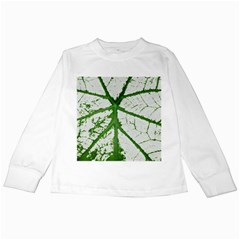 Leaf Patterns Kids Long Sleeve T Shirt by natureinmalaysia