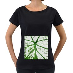 Leaf Patterns Womens' Maternity T Shirt (black) by natureinmalaysia