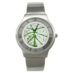 Leaf Patterns Stainless Steel Watch (unisex) by natureinmalaysia
