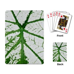 Leaf Patterns Playing Cards Single Design