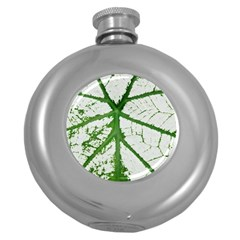 Leaf Patterns Hip Flask (round) by natureinmalaysia