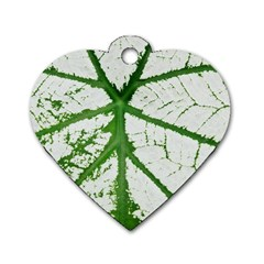 Leaf Patterns Dog Tag Heart (two Sided) by natureinmalaysia