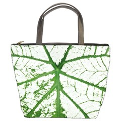 Leaf Patterns Bucket Bag by natureinmalaysia