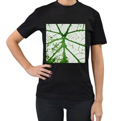 Leaf Patterns Womens' T Shirt (black) by natureinmalaysia