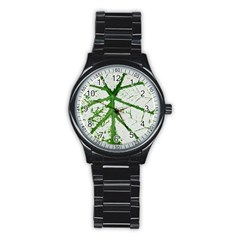 Leaf Patterns Sport Metal Watch (black) by natureinmalaysia