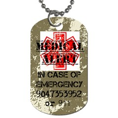 Medicalalert By Sondee Belson   Dog Tag (two Sides)   Yug8nszcn1h0   Www Artscow Com Front