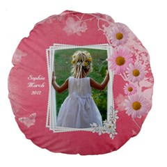 Little Princess 18  Premium Round Cushion By Deborah   Large 18  Premium Round Cushion    Se38tx0z8ee7   Www Artscow Com Back