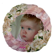 My Girl 18  Premium Round Cushion By Deborah   Large 18  Premium Round Cushion    Rmlrn4ufy303   Www Artscow Com Back