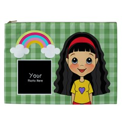 Black Hair Bag By Lillyskite   Cosmetic Bag (xxl)   Tcv3r7ouq94y   Www Artscow Com Front