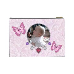 Butterfly Cosmetic Bag By Claire Mcallen   Cosmetic Bag (large)   V1jy2jpwmixb   Www Artscow Com Back
