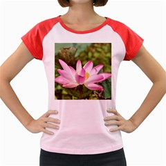 A Pink Lotus Women s Cap Sleeve T Shirt (colored) by natureinmalaysia