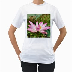 A Pink Lotus Womens  T Shirt (white) by natureinmalaysia