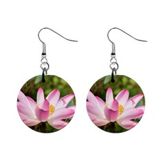 A Pink Lotus Mini Button Earrings by natureinmalaysia