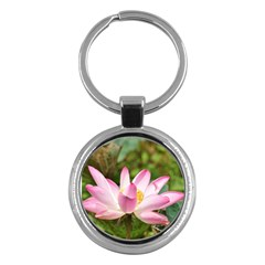 A Pink Lotus Key Chain (round) by natureinmalaysia
