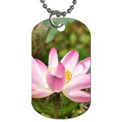 A Pink Lotus Dog Tag (one Sided) by natureinmalaysia