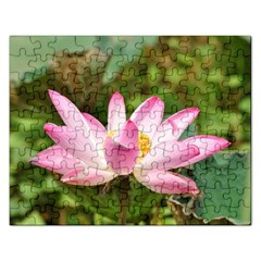 A Pink Lotus Jigsaw Puzzle (rectangle) by natureinmalaysia