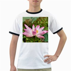 A Pink Lotus Mens' Ringer T Shirt by natureinmalaysia