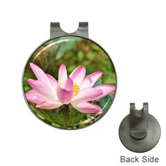 A Pink Lotus Hat Clip With Golf Ball Marker by natureinmalaysia
