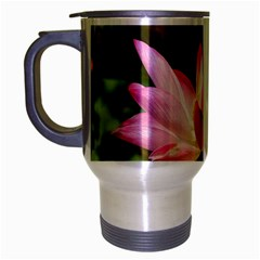 A Pink Lotus Travel Mug (silver Gray) by natureinmalaysia