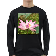 A Pink Lotus Mens' Long Sleeve T Shirt (dark Colored) by natureinmalaysia