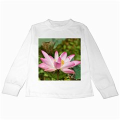 A Pink Lotus Kids Long Sleeve T Shirt by natureinmalaysia