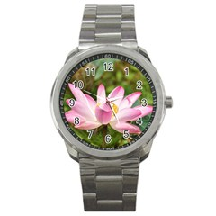 A Pink Lotus Sport Metal Watch by natureinmalaysia