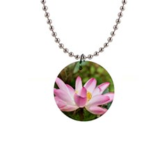 A Pink Lotus Button Necklace