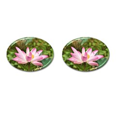 A Pink Lotus Cufflinks (oval) by natureinmalaysia