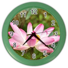 A Pink Lotus Wall Clock (color)