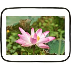 A Pink Lotus Mini Fleece Blanket (two Sided) by natureinmalaysia