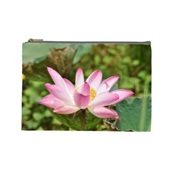A Pink Lotus Cosmetic Bag (large) by natureinmalaysia