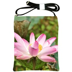 A Pink Lotus Shoulder Sling Bag by natureinmalaysia