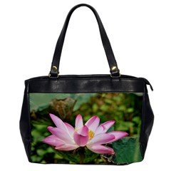 A Pink Lotus Oversize Office Handbag (one Side) by natureinmalaysia