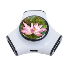 A Pink Lotus 3 Port Usb Hub by natureinmalaysia
